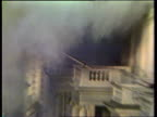 Last ever 'News At Ten' LIB London Iranian Embassy TS Blast on balcony of Iranian Embassy PULL OUT as SAS man seen 9672 VIETNAM Road as napalm bombs...