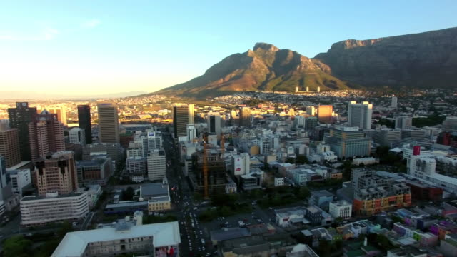 Last light of the day over Cape Town