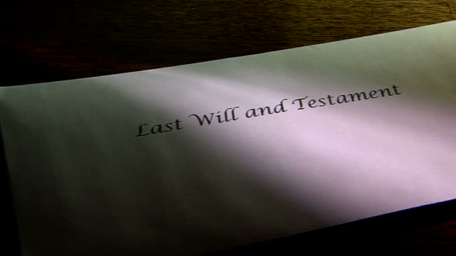 last will and testament envelope