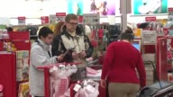 LastMinute Holiday Shoppers at Target in Chicago on Dec 22 2014