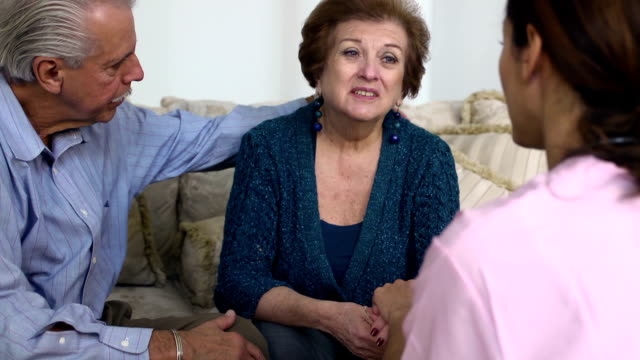 Latin Healthcare Professional Comforts Patient