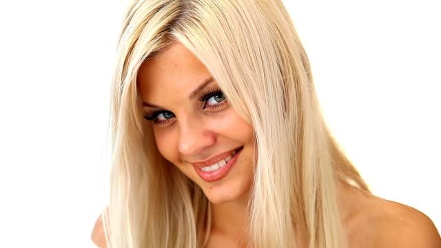 Lachen schöne blonde Mädchen