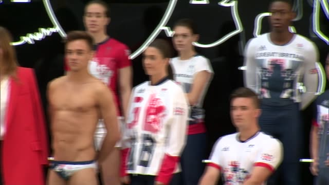 Launch of Team GB kit ahead of Rio 2016 Olympic Games ENGLAND London Seymour Leisure Centre INT **Music heard SOT** Team GB athletes including Lizzie...