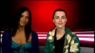 Launch of third series of Merlin television drama series interviews with cast ENGLAND London INT Angel Coulby and Katie McGrath interview SOT Excited...