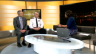 NHS launch scratch card campaign to curb alcohol related incidents in London GIR INT Dr Simon Tanner and Chief Supt Simon Letchford live studio...