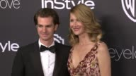 Laura Dern and Andrew Garfield at 18th Annual InStyle And Warner Bros Pictures Golden Globes AfterParty at The Beverly Hilton Hotel on January 08...