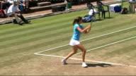 Laura Robson practising
