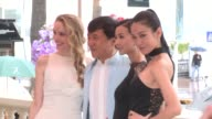 Laura Weissbecker Jackie Chan Yao Xingtong and Zhang Nan Xin Celebrity Sightings 65th Cannes Film Festival 2012 on May 18 2012 in Cannes France...