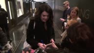 Lauren Graham at NBC Studios signs and poses for photos with fans in Celebrity Sightings in New York