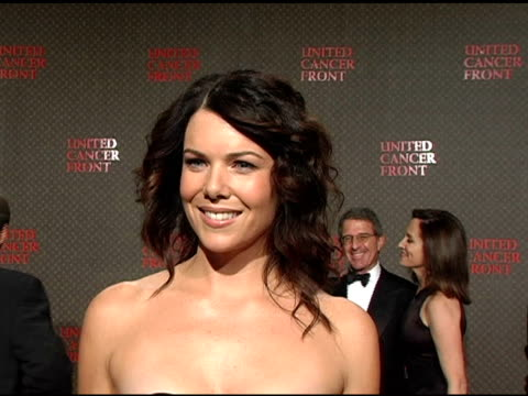 Lauren Graham on the Louis Vuitton United Cancer Front Gala on Louis Vuitton's involvement with the United Cancer Front the importance of Cancer...
