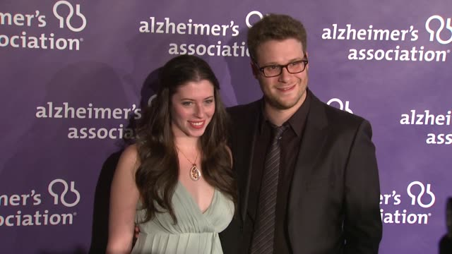 Lauren Miller Seth Rogen at the 19th Annual 'A Night At Sardi's' Benefitting The Alzheimer's Association at Beverly Hills CA