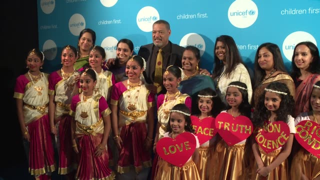 Laurence Fishburne and Bharathakala Dance Academy at UNICEF's Evening For Children First In Atlanta on March 17 2017 in Atlanta Georgia