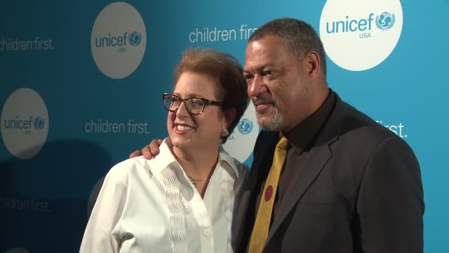 Laurence Fishburne and Caryl Stern at UNICEF's Evening For Children First In Atlanta on March 17 2017 in Atlanta Georgia