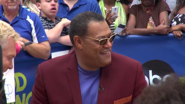 Laurence Fishburne at the 'Good Morning America' studio in New York NY on 6/12/13
