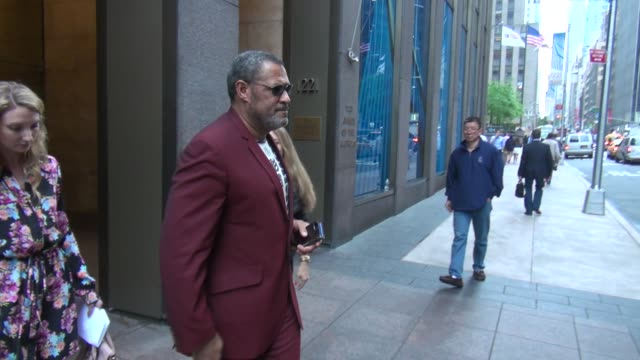 Laurence Fishburne exits SiriusXM Satellite Radio gets into his car in Celebrity Sightings in New York