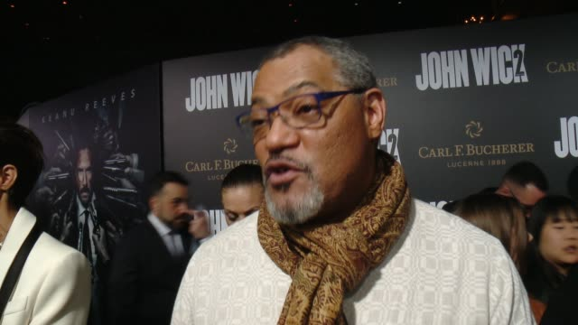INTERVIEW Laurence Fishburne on how excited he was to join John Wick's world what kind of ride audiences can expect from John Wick 2 and what it was...