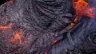 Lava close tight shot Day daytime Glowing Hot flow from Kilauea Active Volcano Puu Oo Vent Active Volcano Magma