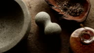 Lavender in Mortar and Pestle
