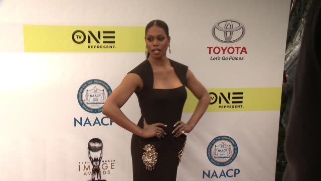 Laverne Cox at 48th NAACP Image Awards at Pasadena Civic Auditorium on February 11 2017 in Pasadena California