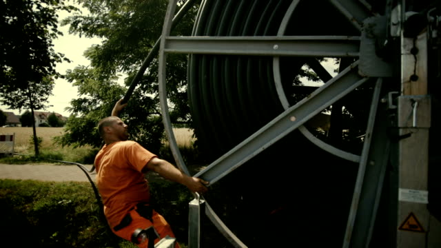 Laying of a high-speed Internet cable  - Underground engineering