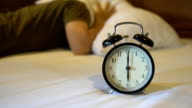 lazy to waking up from alarm clock