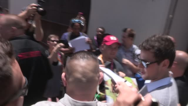 Lea Michele and Cory Monteith with Naya Rivera and Darren Criss greet fans in San Diego 07/14/12