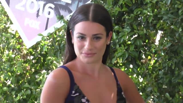 Lea Michele arriving to the 2016 Teen Choice Awards at The Forum in Los Angeles in Celebrity Sightings in Los Angeles