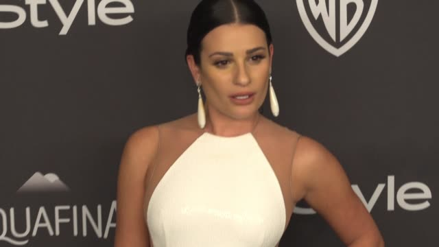 Lea Michele at 17th Annual InStyle And Warner Bros Pictures Golden Globe AfterParty at The Beverly Hilton Hotel on January 10 2016 in Beverly Hills...