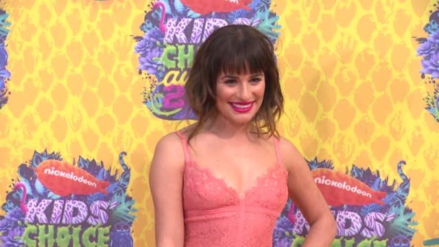 Lea Michele at Nickelodeon's 27th Annual Kids' Choice Awards at USC Galen Center on March 29 2014 in Los Angeles California