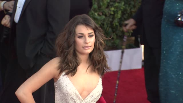 Lea Michele at the 17th Annual Screen Actors Guild Awards Arrivals at Los Angeles CA