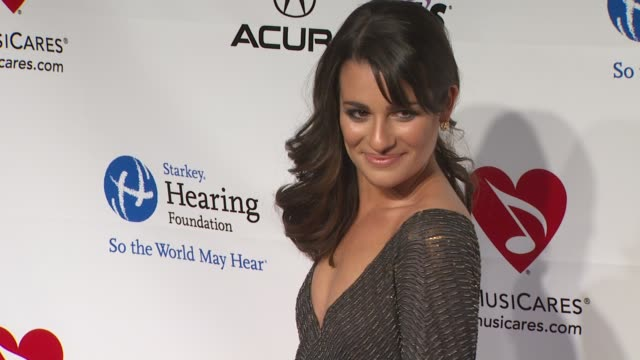 Lea Michele at the 2011 MusiCares Person Of The Year Honoring Barbara Streisand at Los Angeles CA