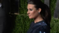 Lea Michele at the 2011 Vanity Fair Oscar Party Inside at Hollywood CA