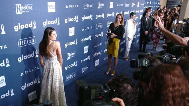 Lea Michele at the 27th Annual GLAAD Media Awards at The Beverly Hilton Hotel on April 2 2016 in Beverly Hills California