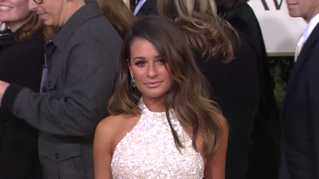 Lea Michele at the 70th Annual Golden Globe Awards Arrivals in Beverly Hills CA on 1/13/13