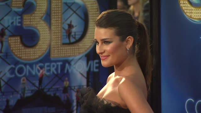 Lea Michele at the 'GLEE The 3D Concert Movie' Los Angeles Premiere at Westwood CA