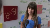 Lea Michele discusses how she was involved in Valspar and Habitat for Humanity and the celeb hands she likes to see at Lea Michele Launches Valspar...