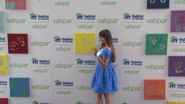 Lea Michele Launches Valspar Hands For Habitat Program on July 20 2012 in New York New York