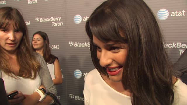Lea Michele on how long she's been a Blackberry fan her favorite thing about the new Blackberry Torch why she wanted to come out and be a part of the...