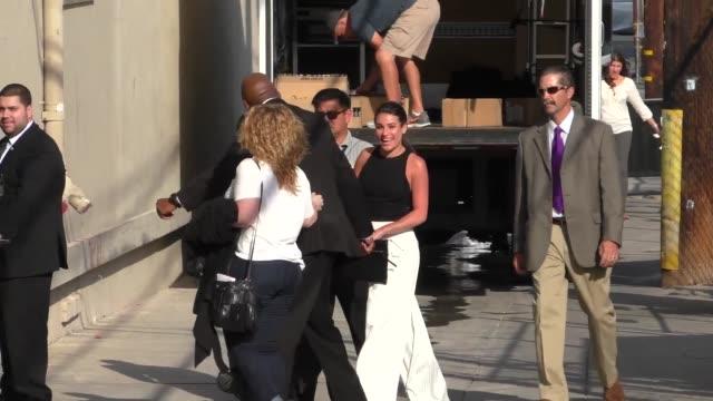 Lea Michele outside Jimmy Kimmel Live in Hollywood in Celebrity Sightings in Los Angeles