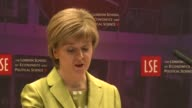 SNP leader and Scottish First Minister Nicola Sturgeon has said a coalition with the UK Labour Party was highly unlikely but kept the door open to a...