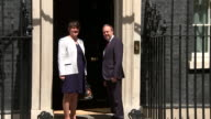 Leader of the Democratic Unionist Party Arlene Foster turns up at number 10 Downing Street ahead of talks with Prime Minister Theresa May to form an...