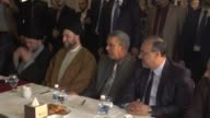 Leader of the Shiite National Alliance Ammar alHakim accompanied by his delegation meets with Leader of the Iraqi Turkmen Front Ershad Salihi at a...
