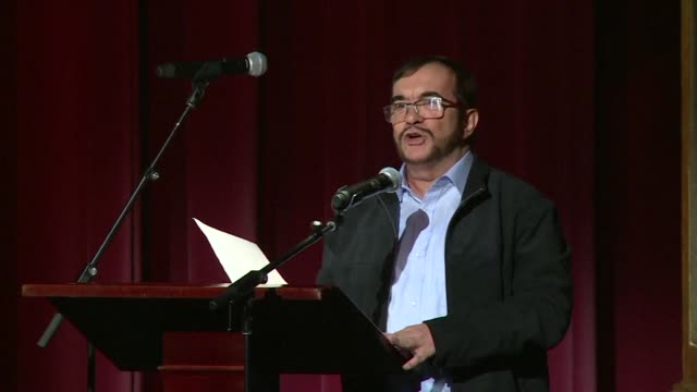 FARC leader Timochenko calls for Colombia to mobilise in order for the historic peace agreement to be respected without mockery in an act intended to...