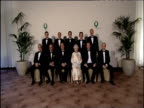 Leaders of G8 summit pose for official photograph with Queen Elizabeth II at Gleneagles Hotel Scotland 06 Jul 05