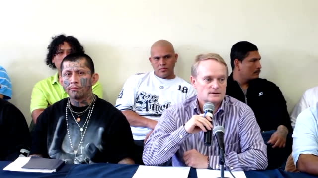 Leaders of Salvadorean MS13 18th street Mara Maquina and MaoMao gangs and the Secretary of Multidimensional Security at the Organization of American...