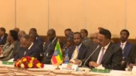 Leaders of the Intergovernmental Authority on Development discuss the critical situation in South Sudan in the Ethiopian capital of Addis Ababa and...