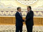 Leaders of the Shanghai Cooperation Organization Tajik President Emomali Rahmon Russian President Vladimir Putin Chinese President Xi Jinping...