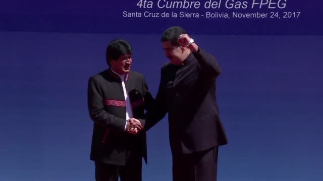 Leaders of Venezuela and Equatorial Guinea as well as delegates arrive for the Gas Exporting Countries Forum summit in the Bolivian city of Santa...