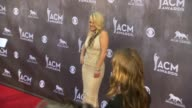 Leah Turner at the 49th Annual Academy of Country Music Awards Arrivals at MGM Grand Garden Arena on April 06 2014 in Las Vegas Nevada