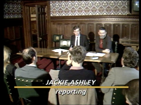 Leaked Conservative education document ENGLAND London Westminster INT Jack Straw at press conference Straw speaking